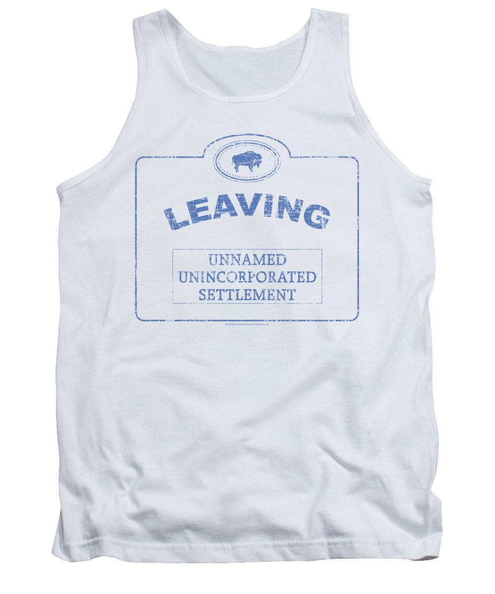 Warehouse 13 Tank Top featuring the digital art Warehouse 13 - Now Leaving Univille by Brand A