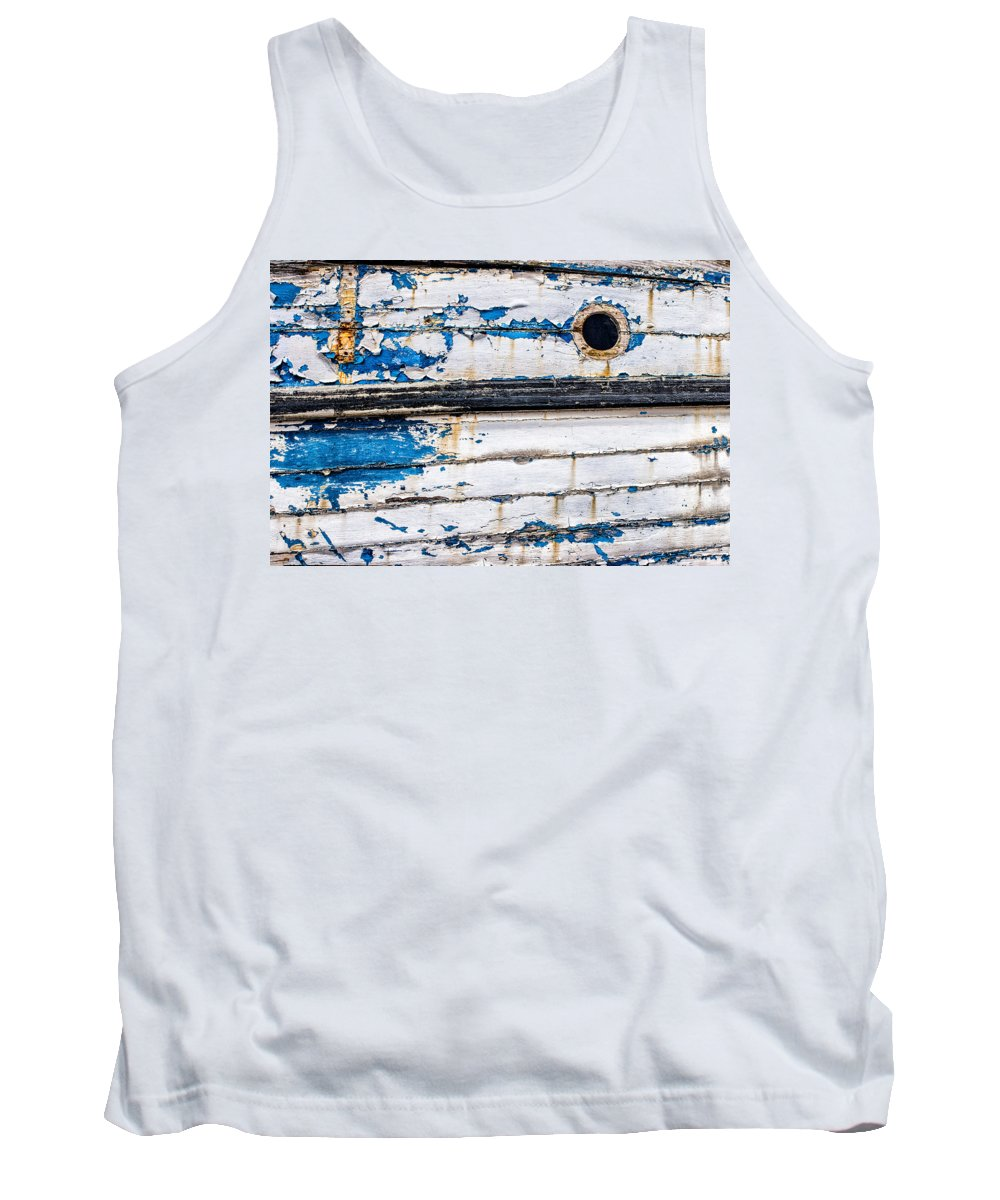 Boat Tank Top featuring the photograph Was Once Blue by Nigel R Bell