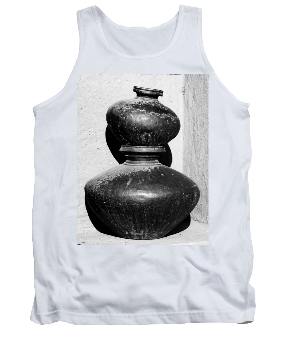 Water Tank Top featuring the photograph Water Pots by Gaurav Singh