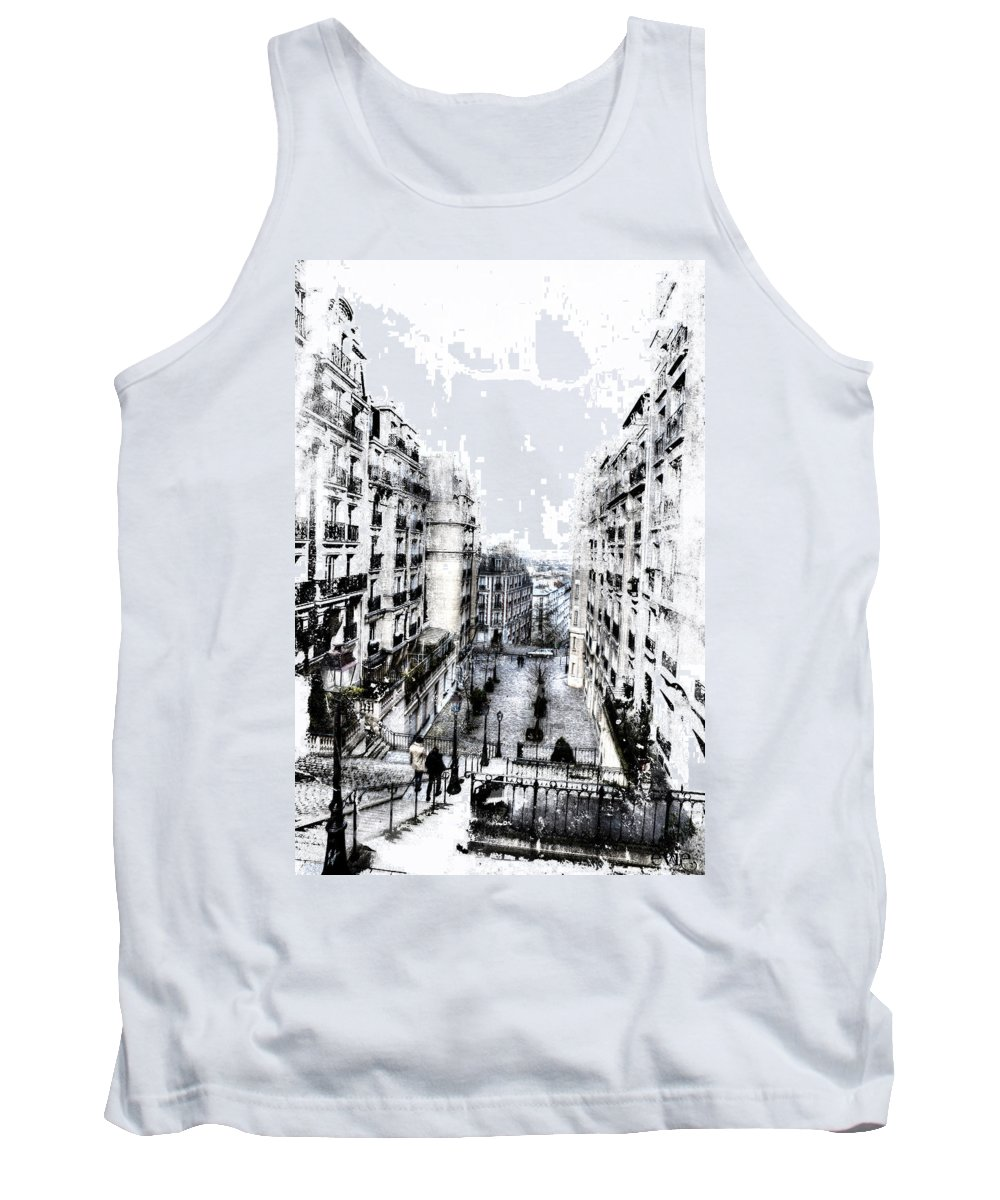 Evie Tank Top featuring the photograph Watercolor Montmartre by Evie Carrier