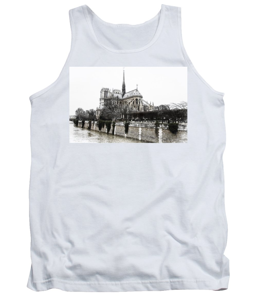 Evie Tank Top featuring the photograph Watercolor Notre Dame by Evie Carrier