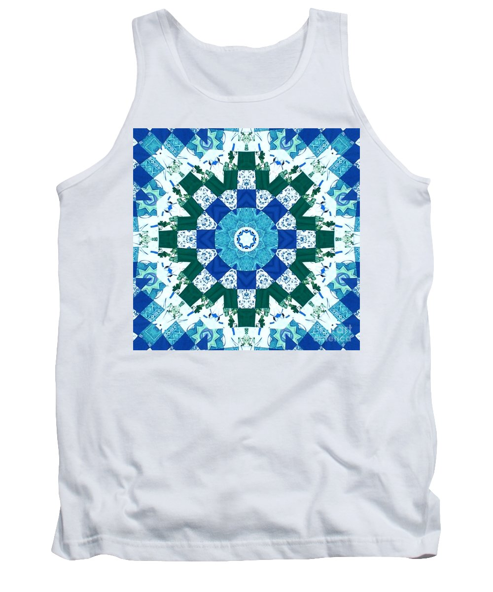 Quilts Tank Top featuring the tapestry - textile Watercolor Quilt by Barbara Griffin