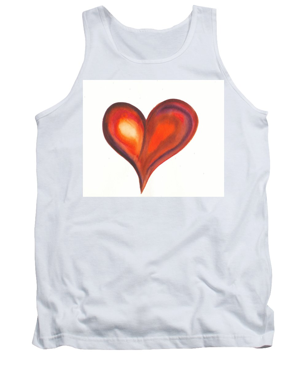Valentine Tank Top featuring the painting Watercolour Painting Of Colorful Abstract Heart by Kerstin Ivarsson