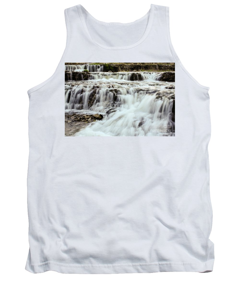 Waterfalls Tank Top featuring the photograph Waterfalls Flowing by Terri Morris