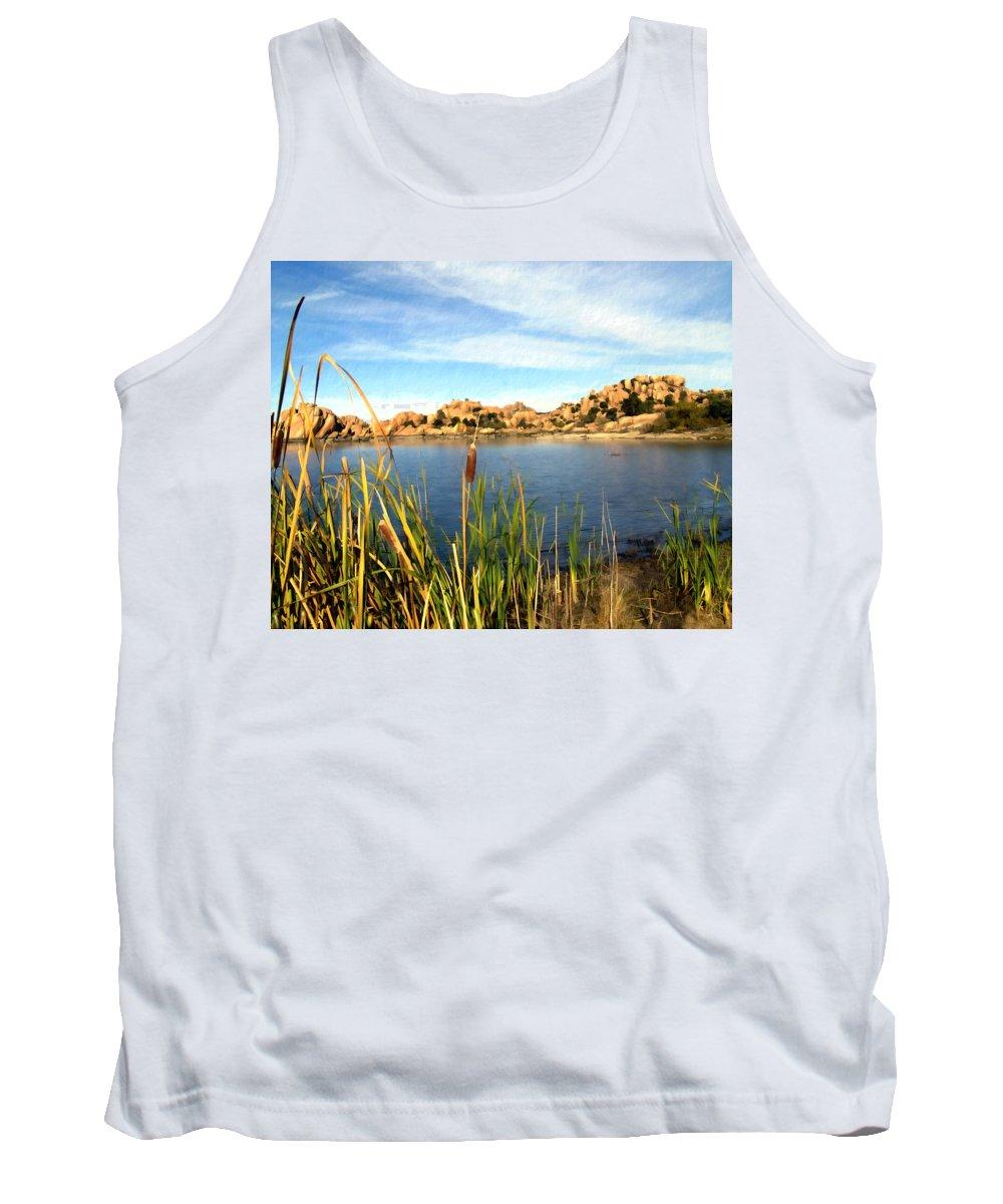 Watson Lake Tank Top featuring the photograph Watson Lake Arizona by Kurt Van Wagner
