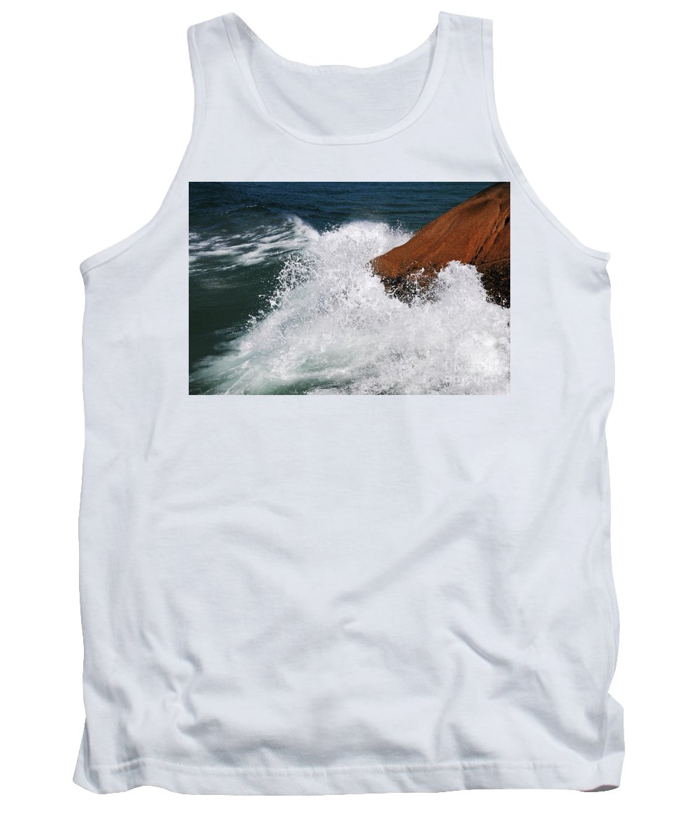 Brazil Tank Top featuring the photograph Wave Action Florianopolis by Vivian Christopher