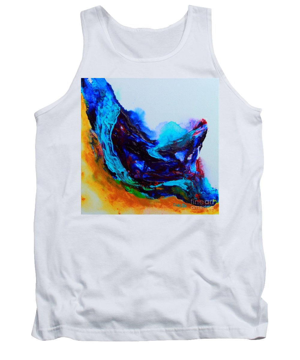 Original Tank Top featuring the painting Waves by ElsaDe Paintings