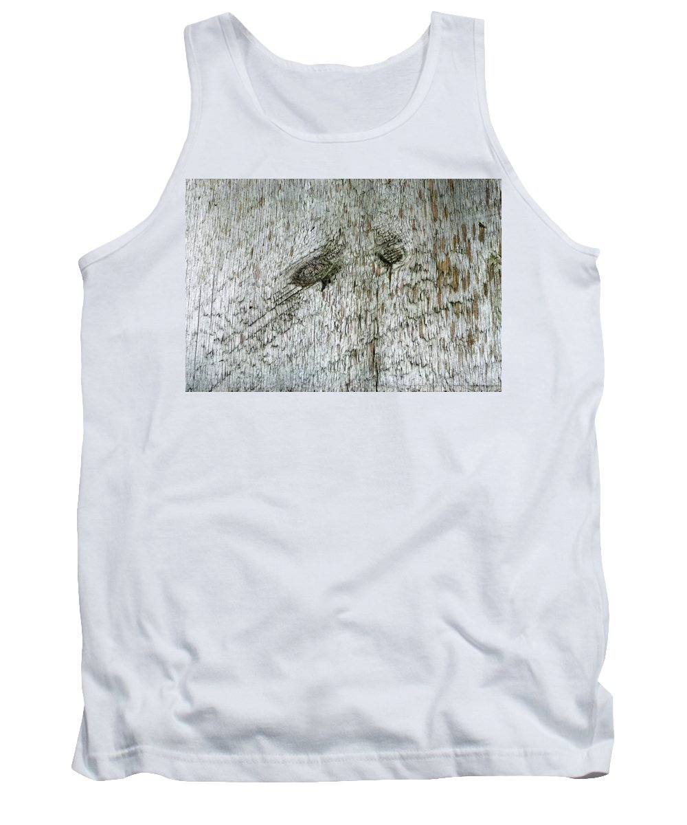 Wood Tank Top featuring the photograph Weathered Wood by Scott Angus