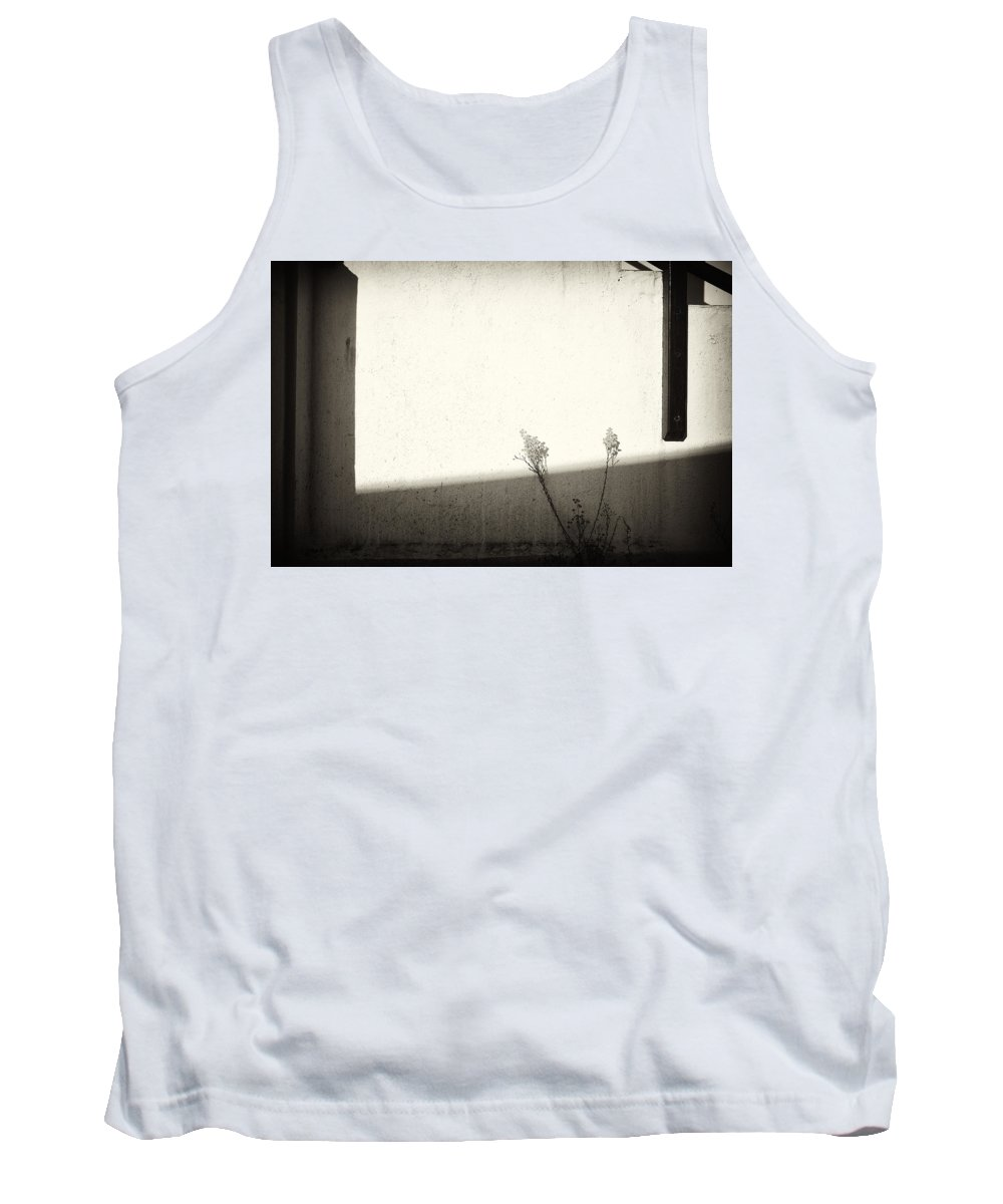 Weeds Tank Top featuring the photograph Weeds And Angles by Hugh Smith