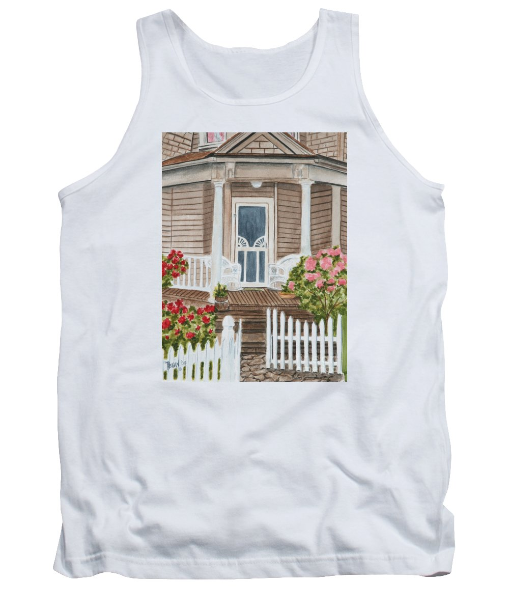 Architecture Tank Top featuring the painting Welcome by Regan J Smith