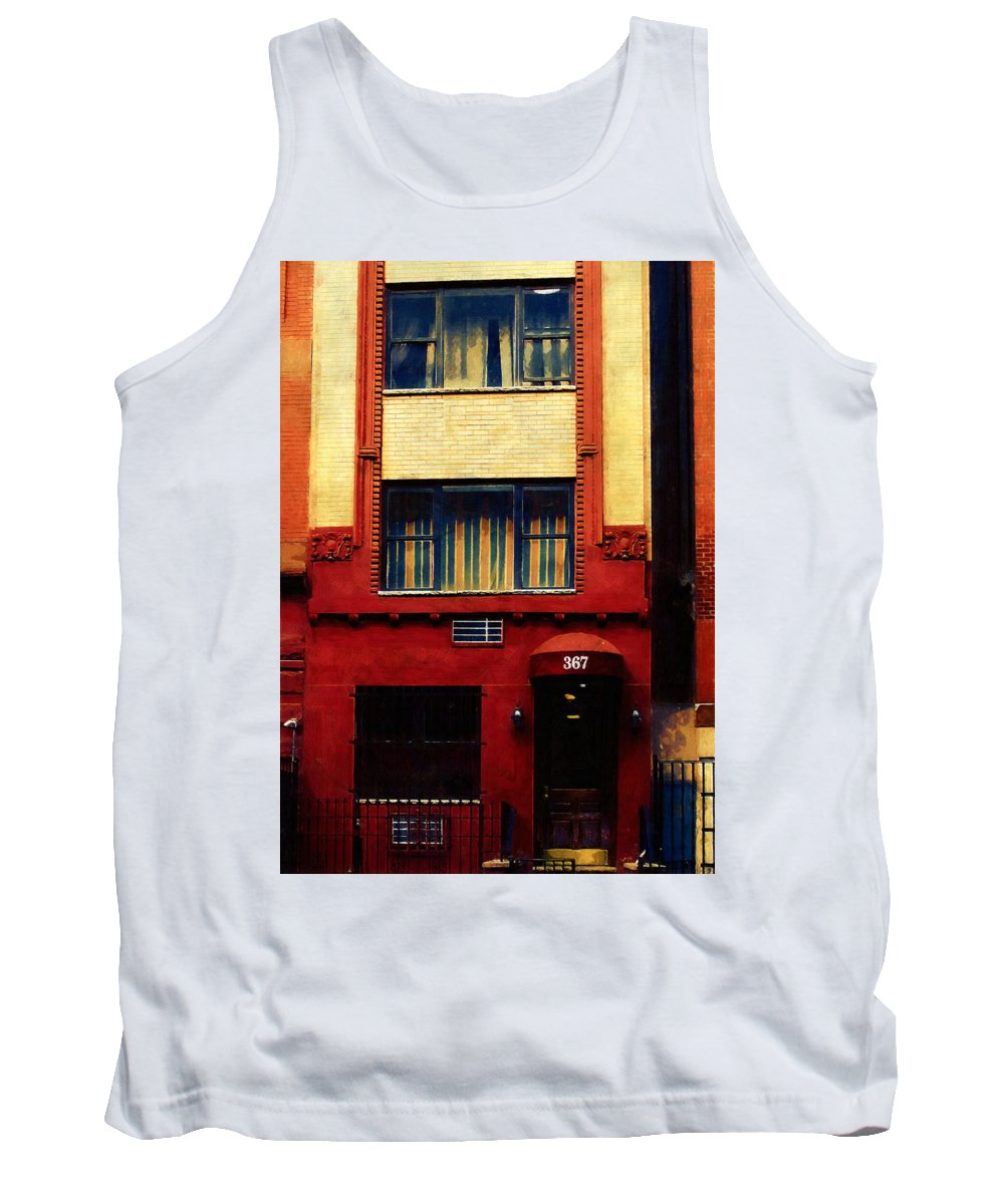 Door Tank Top featuring the painting West Side Walk Up by RC DeWinter