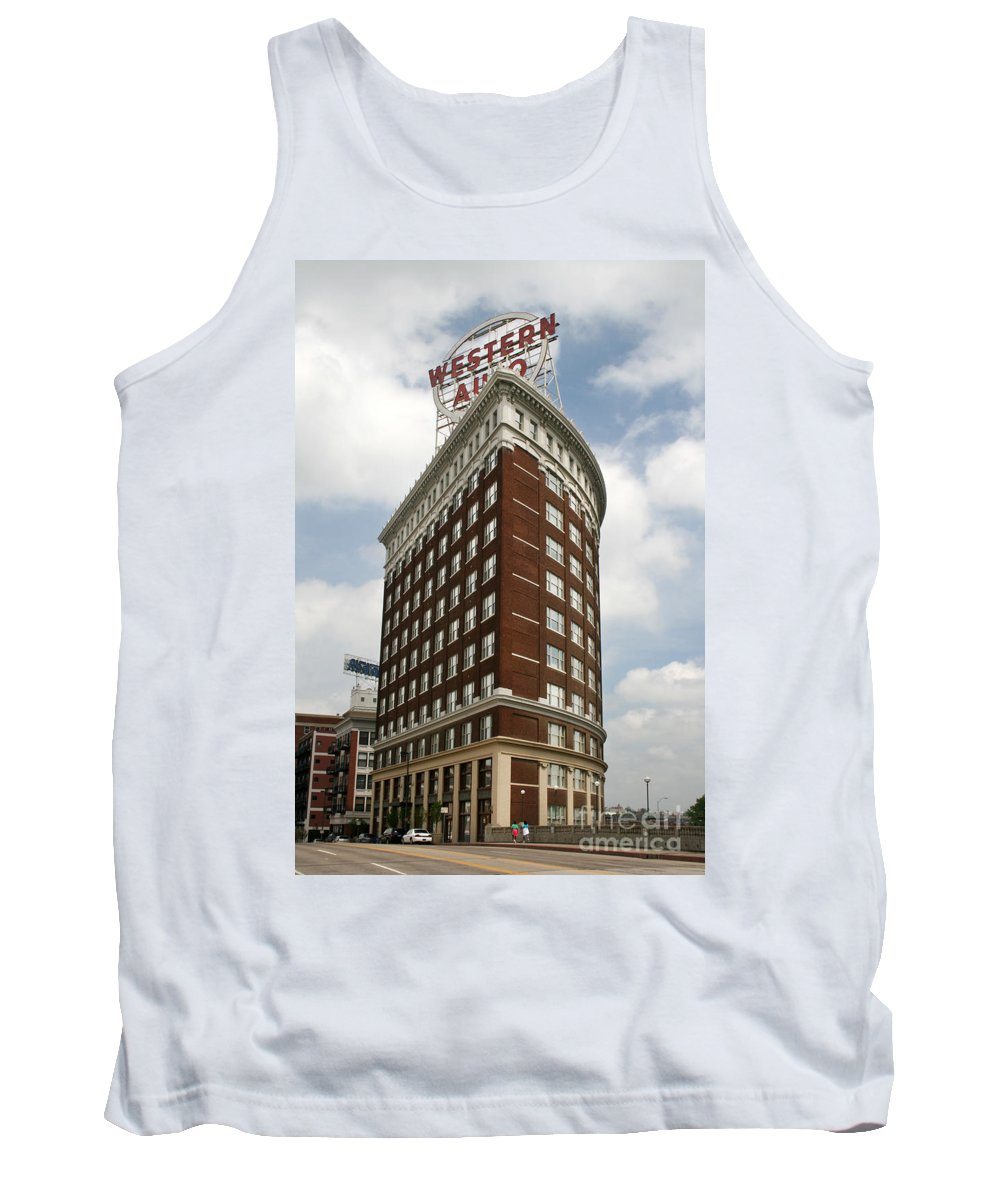 Kansas City Tank Top featuring the photograph Western Auto by Crystal Nederman