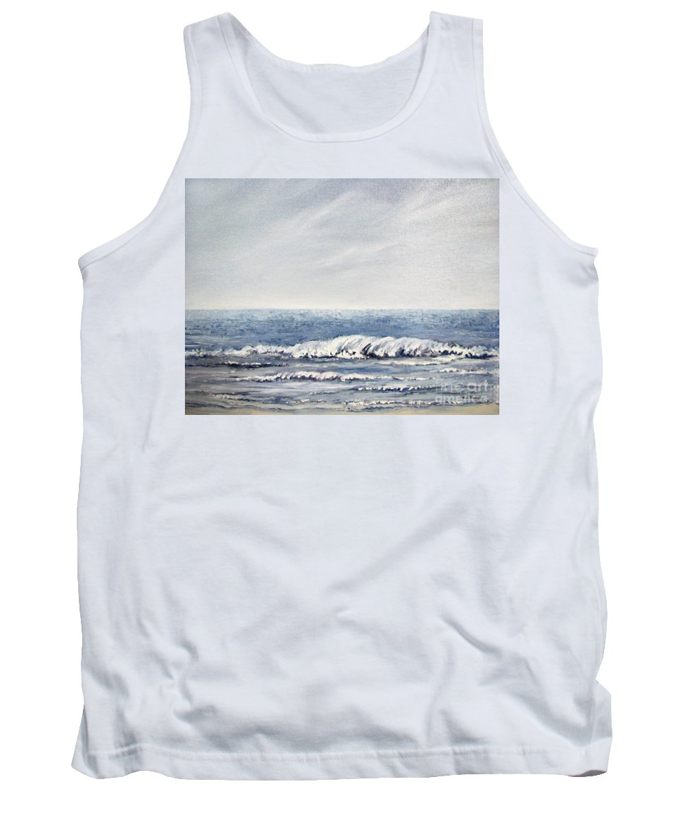 Seascape Tank Top featuring the painting Where I Want To Be by Todd Blanchard
