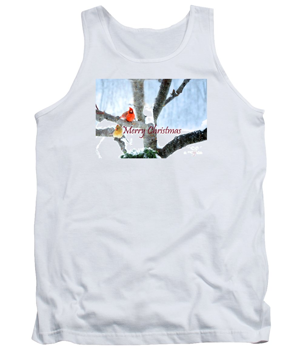 Nature Tank Top featuring the photograph White Christmas by Nava Thompson