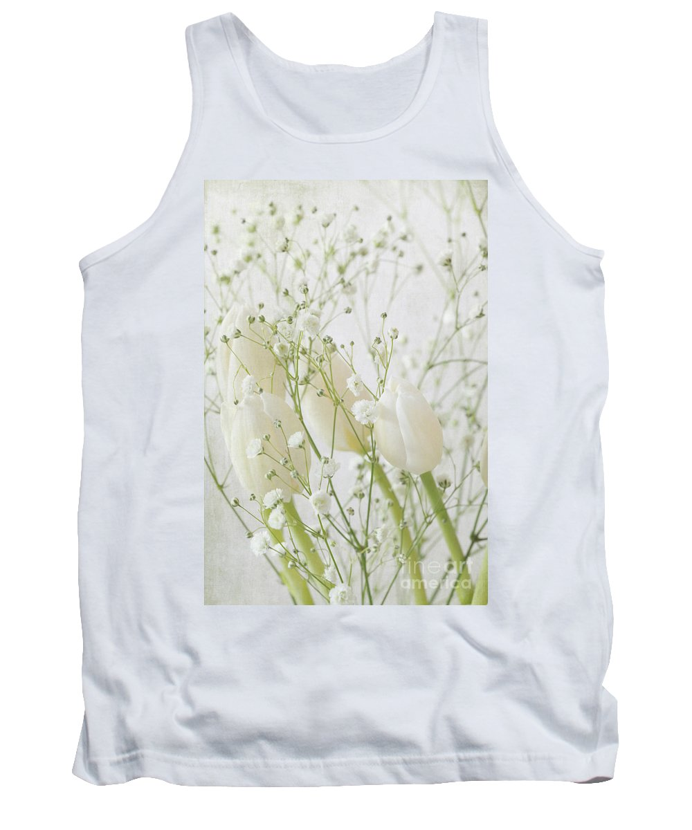 White Flowers Tank Top featuring the photograph White Flowers Pi by Jacqueline Moore