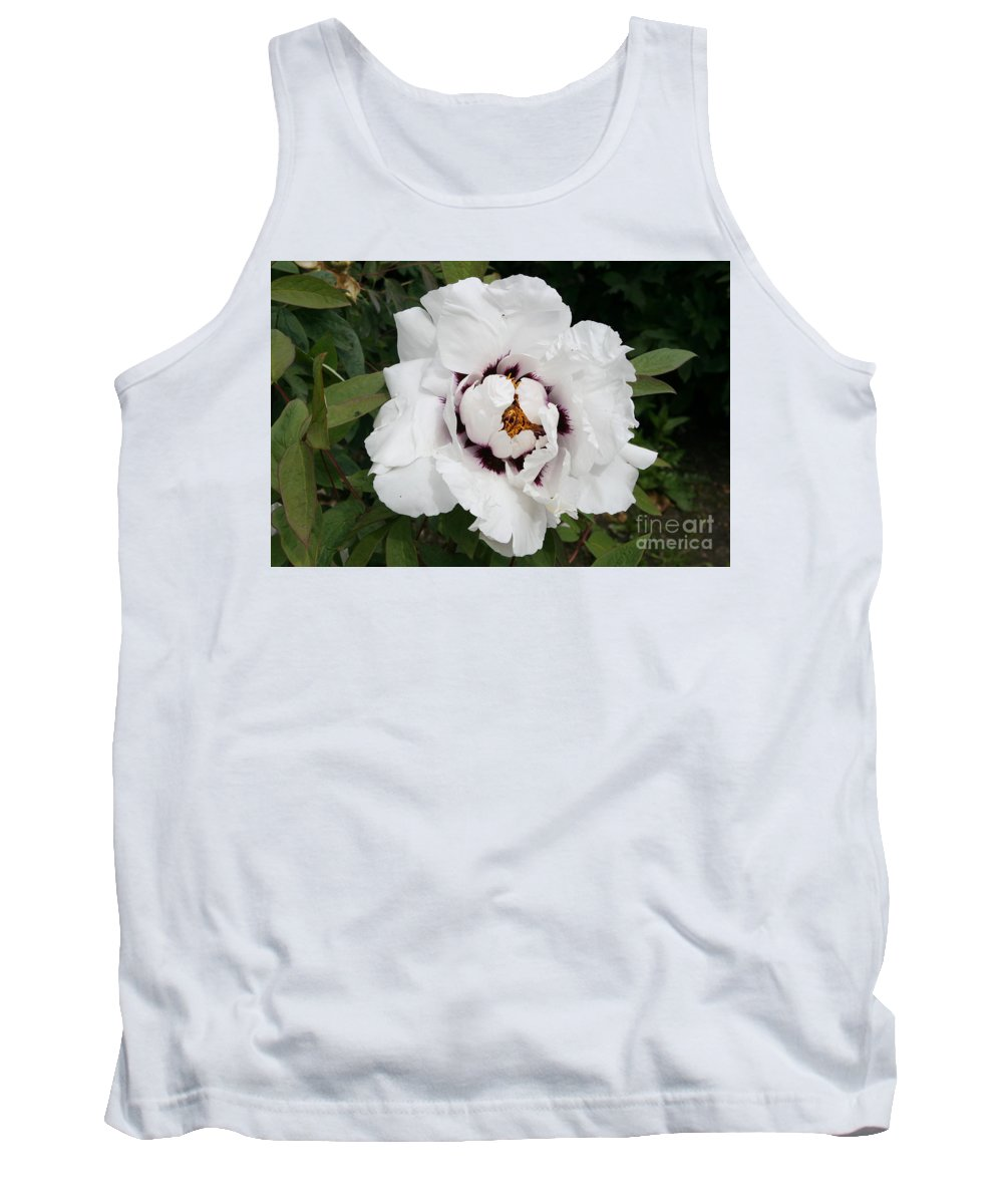 Flowers Tank Top featuring the photograph White Peony by Christiane Schulze Art And Photography