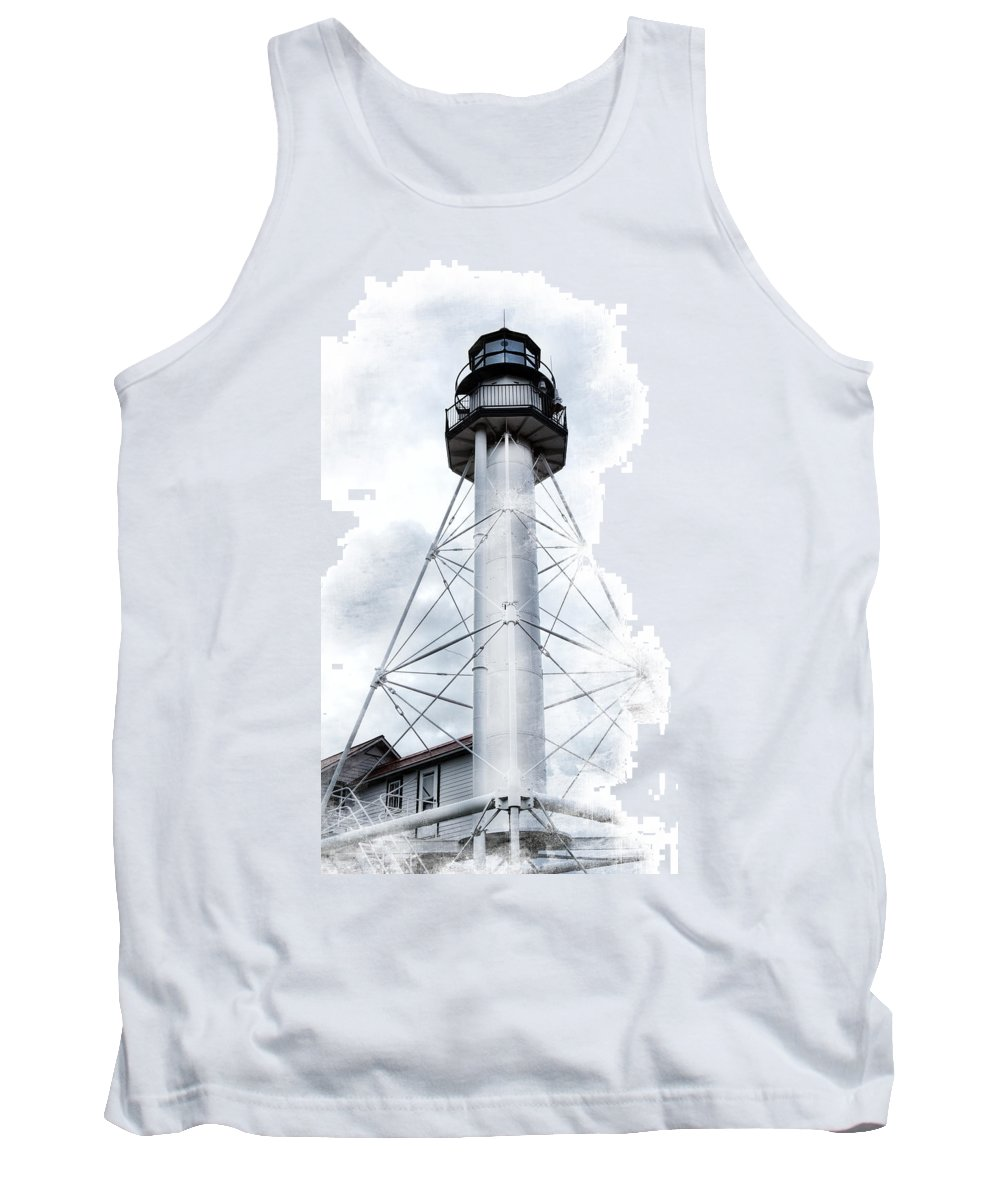 Evie Tank Top featuring the photograph Whitefish Point Lighthouse by Evie Carrier