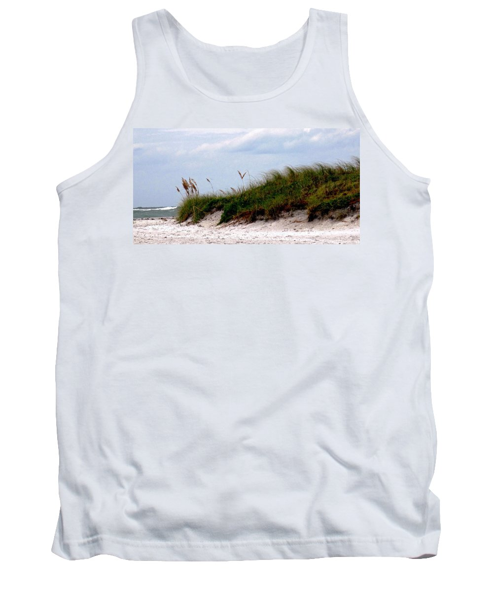 Beach Tank Top featuring the photograph Wind In The Seagrass by Ian MacDonald