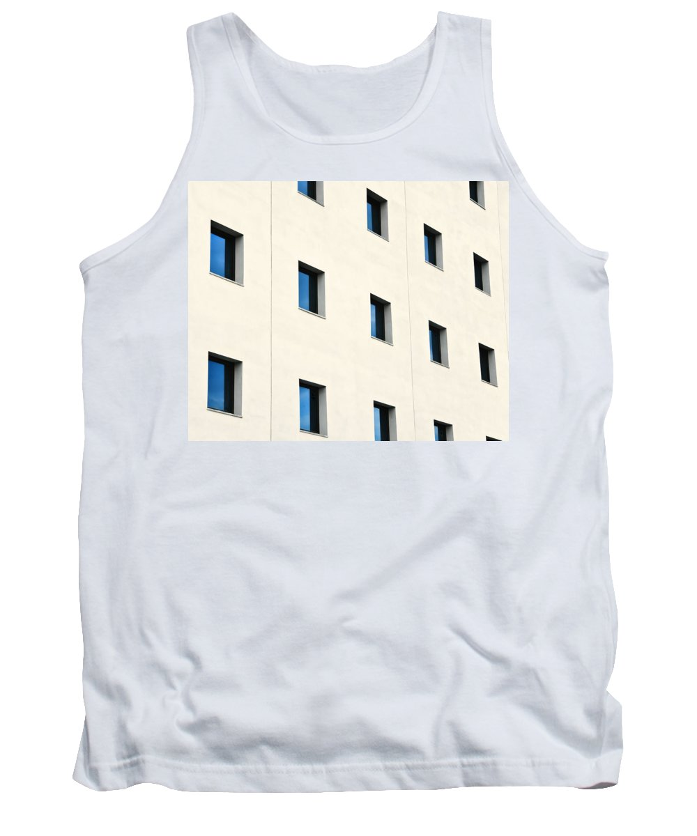 Architectural Tank Top featuring the photograph Windows In An Office Building by Ken Welsh