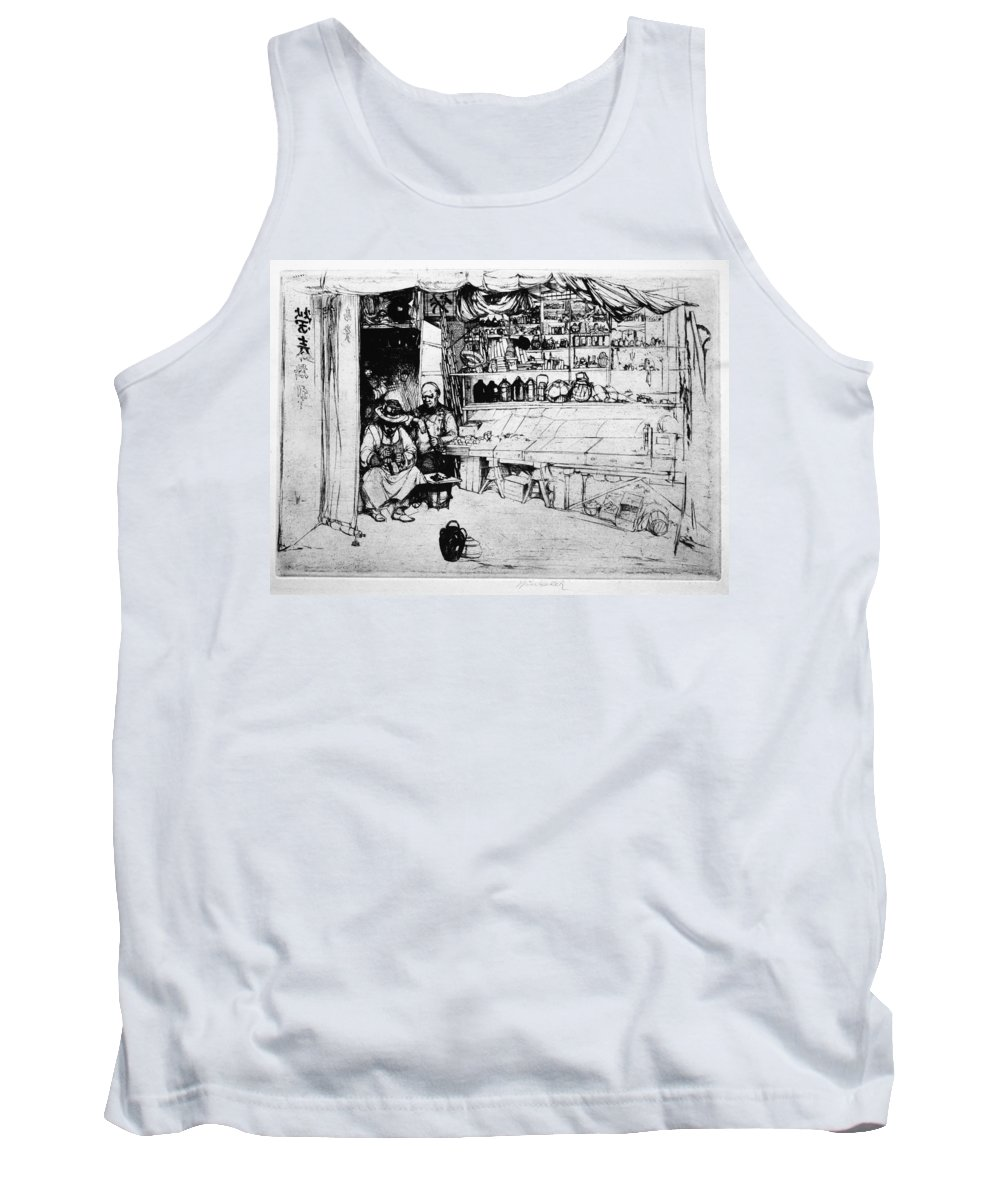 1922 Tank Top featuring the painting Winkler Ginger Shop, 1922 by Granger