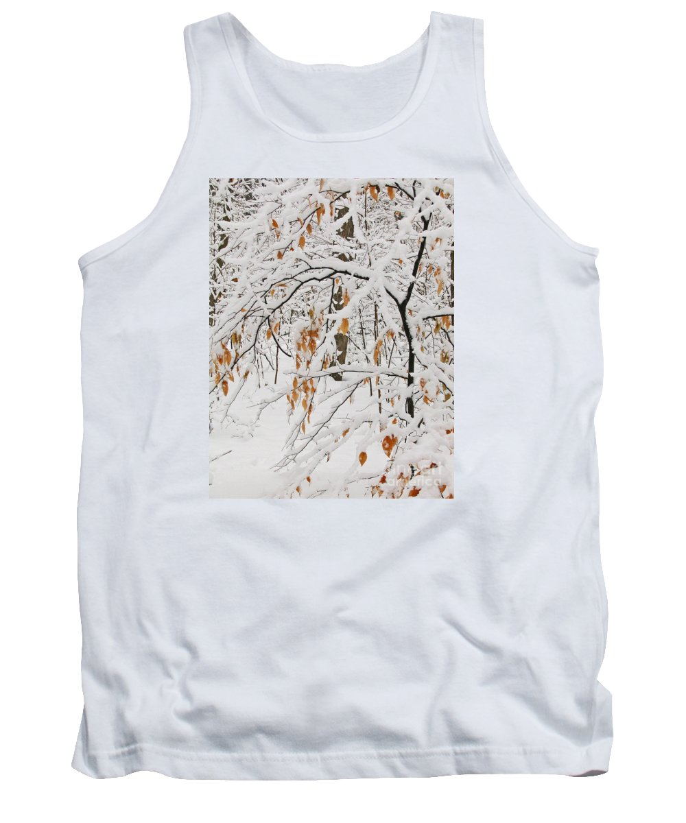 Winter Tank Top featuring the photograph Winter Branches by Ann Horn