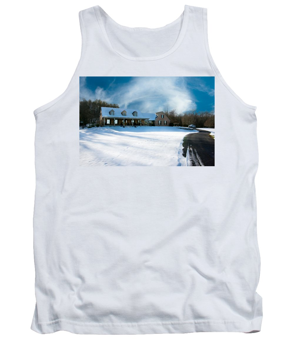Winter Day Three Tank Top featuring the photograph Winter Day Three by Randall Branham