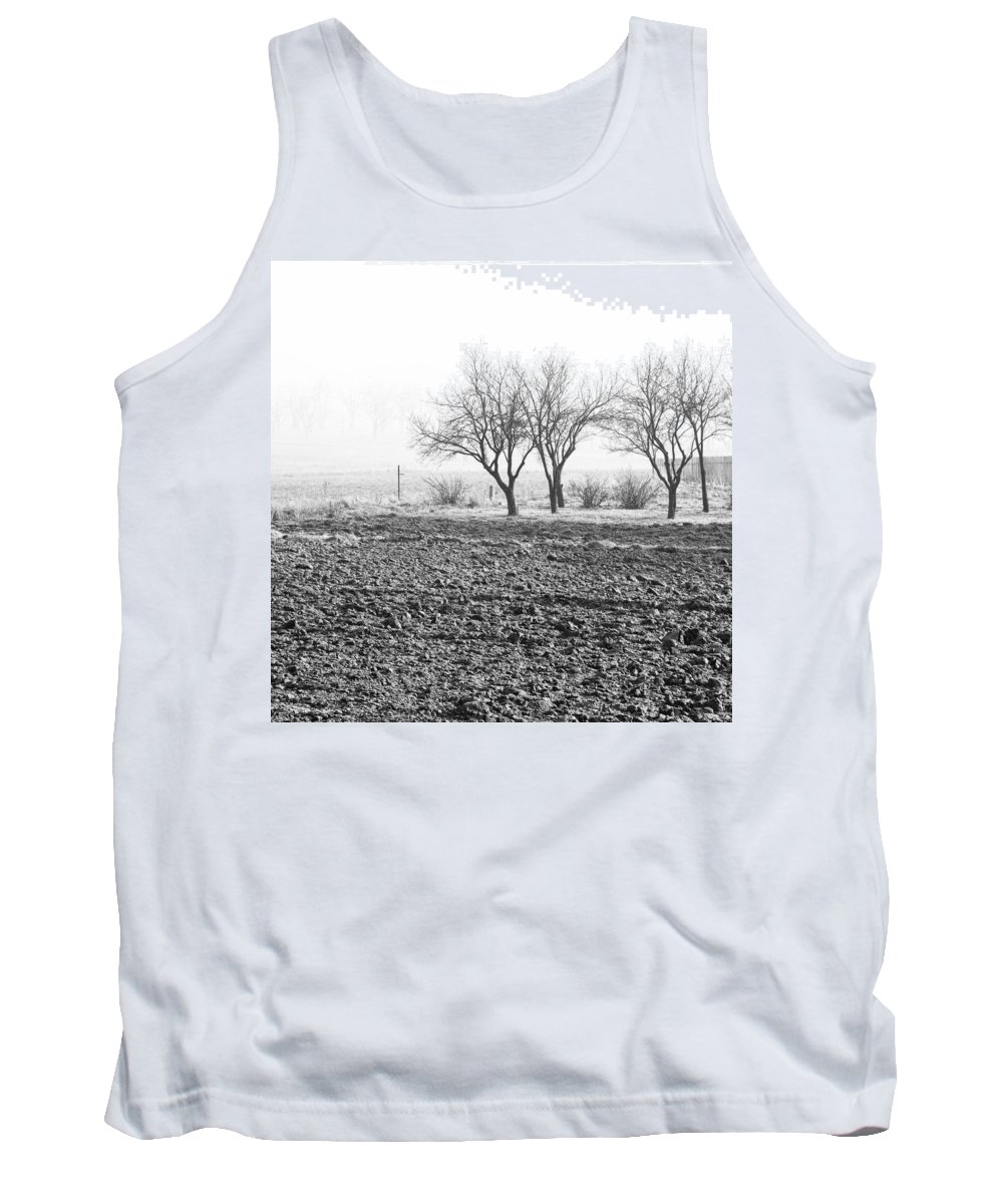 Black And White Tank Top featuring the photograph Winter Solitude by Pati Photography