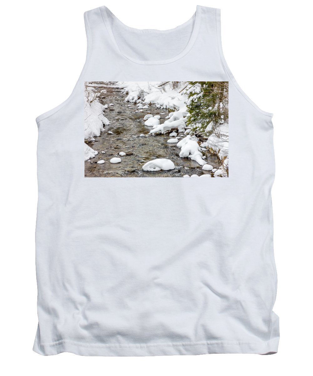 River Tank Top featuring the photograph Winter Stream by Pati Photography