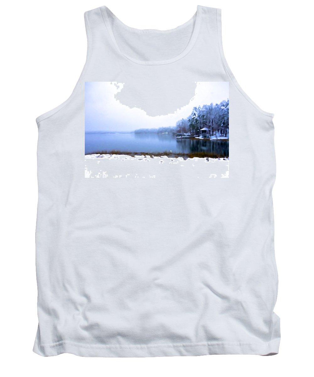 Water Tank Top featuring the photograph Winter Watercolor by Charlie and Norma Brock