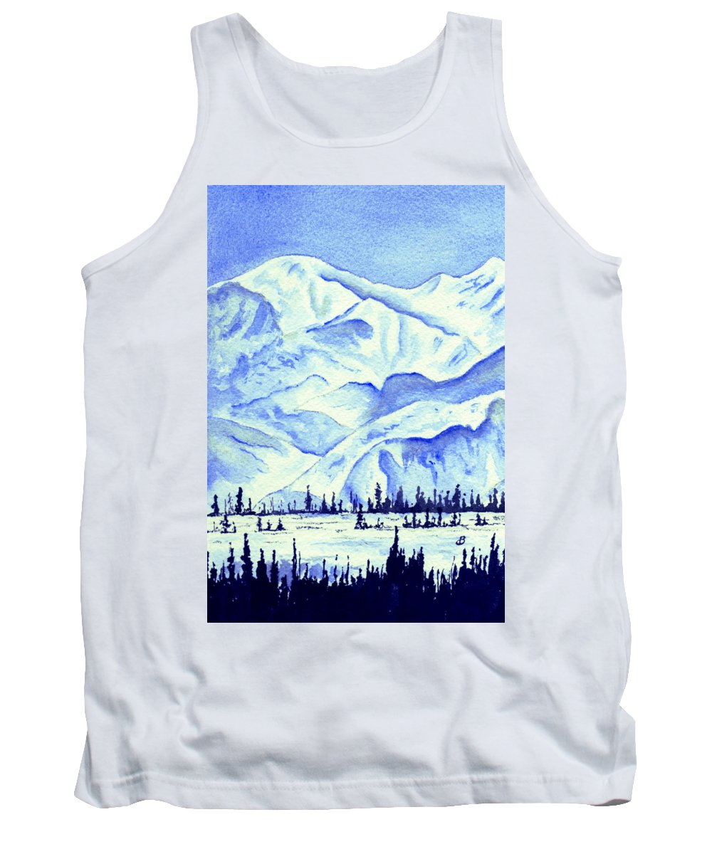 Landscape Tank Top featuring the painting Winter's White Blanket by Brenda Owen