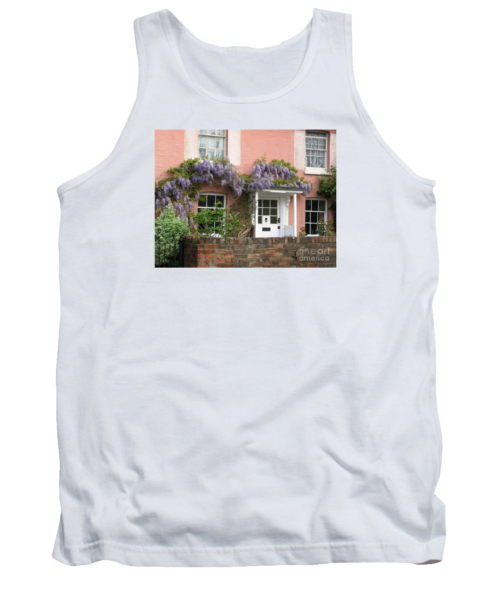 Wisteria Tank Top featuring the photograph Wisteria House by Ann Horn