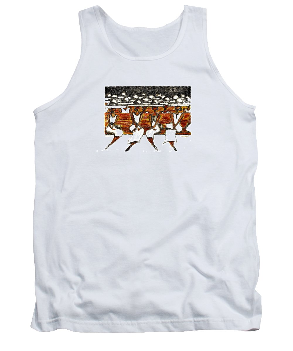 Hats Tank Top featuring the drawing Women's Day by C F Legette