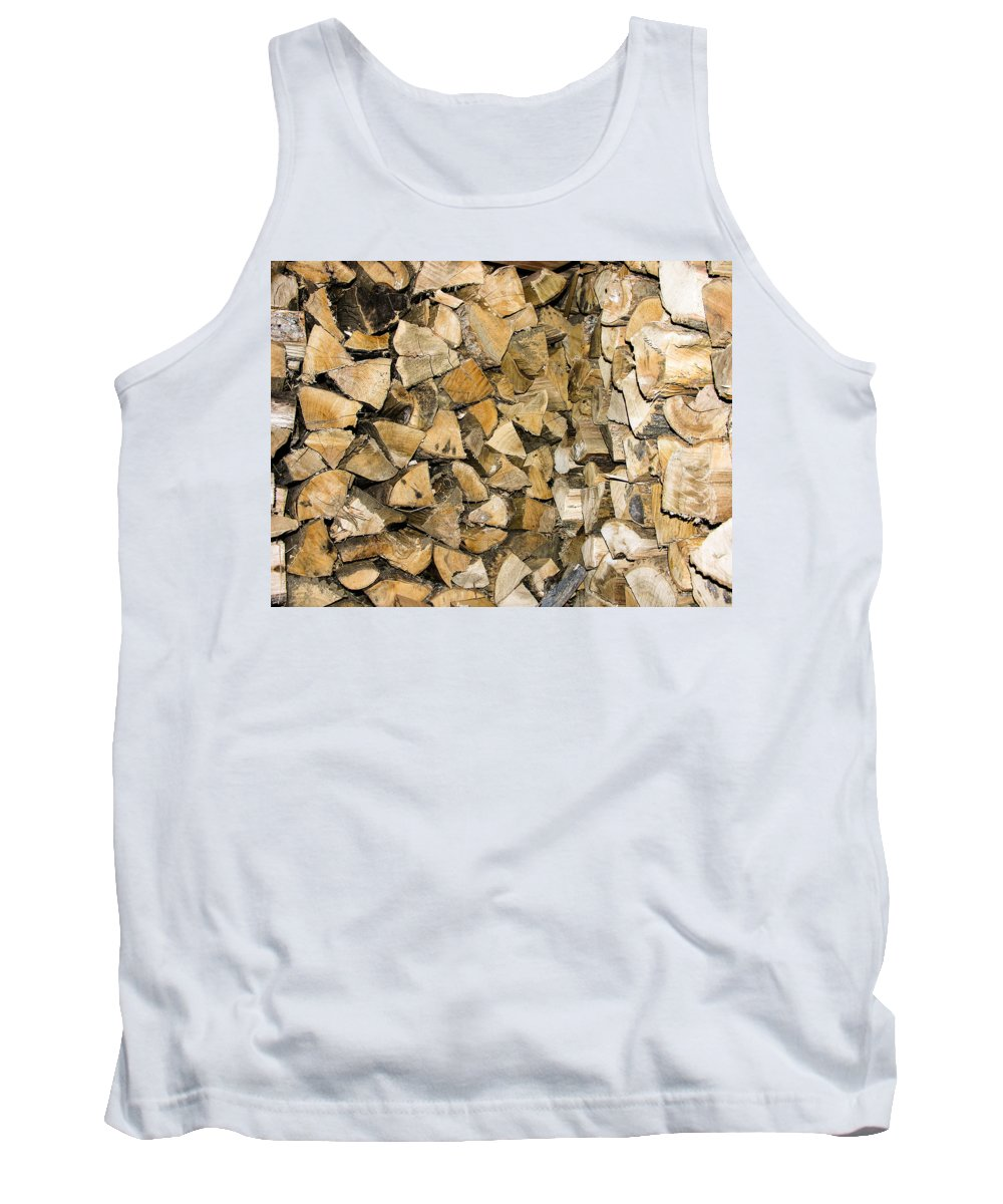 Chopped Wood Tank Top featuring the photograph Wood by Sherman Perry