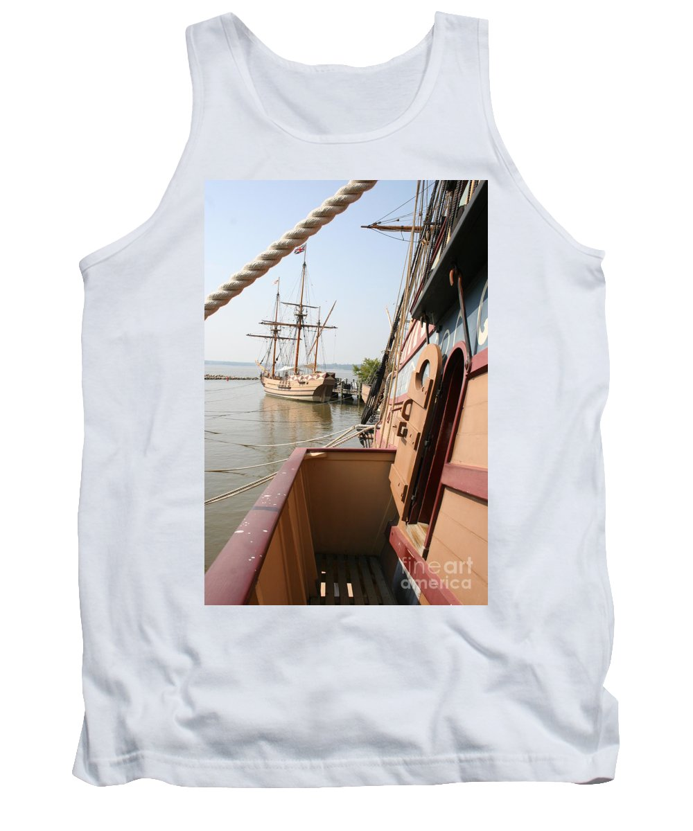 Ship Tank Top featuring the photograph Wooden Sailingships by Christiane Schulze Art And Photography