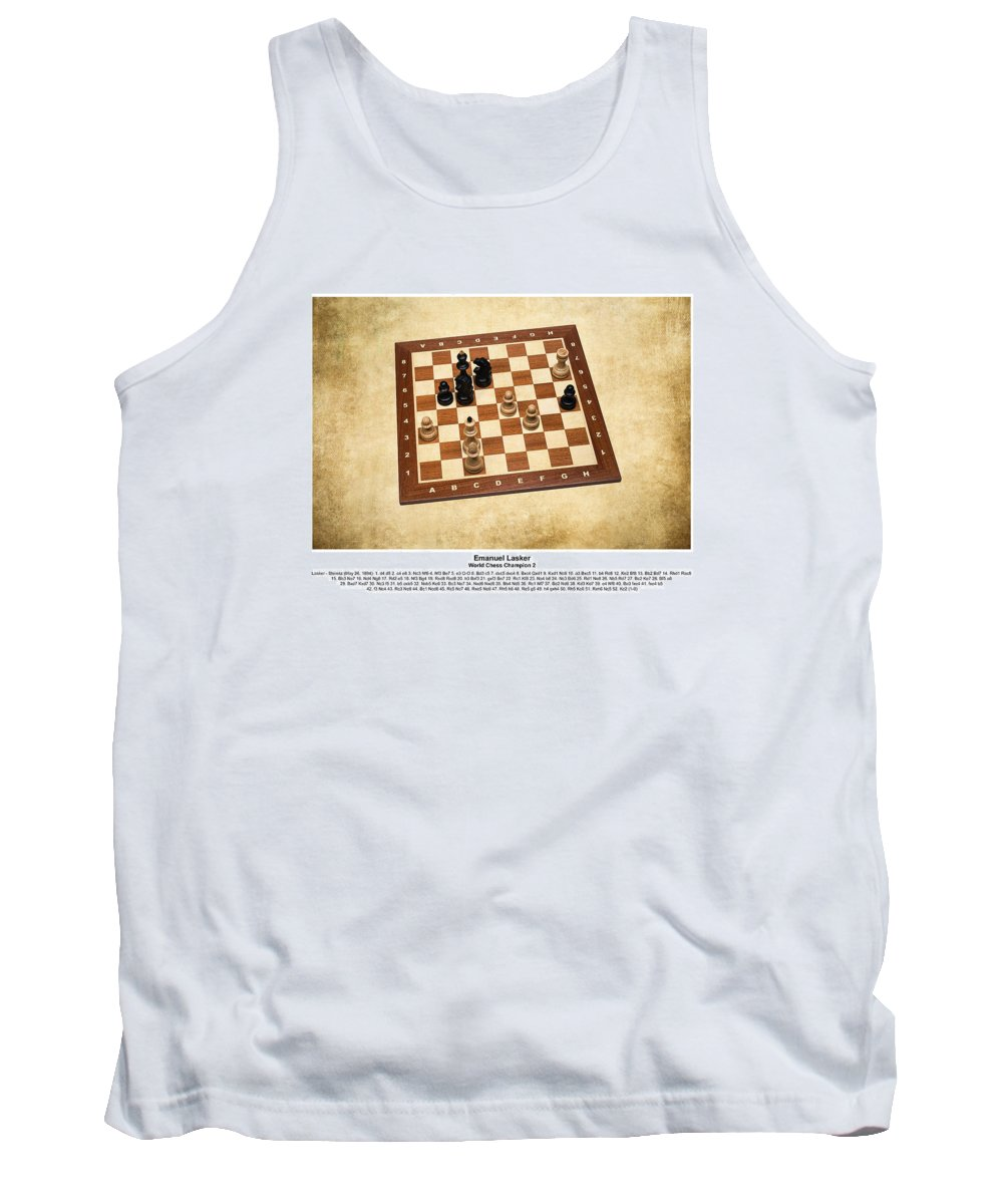Chess Tank Top featuring the photograph World Chess Champions - Emanuel Lasker - 1 by Alexander Senin