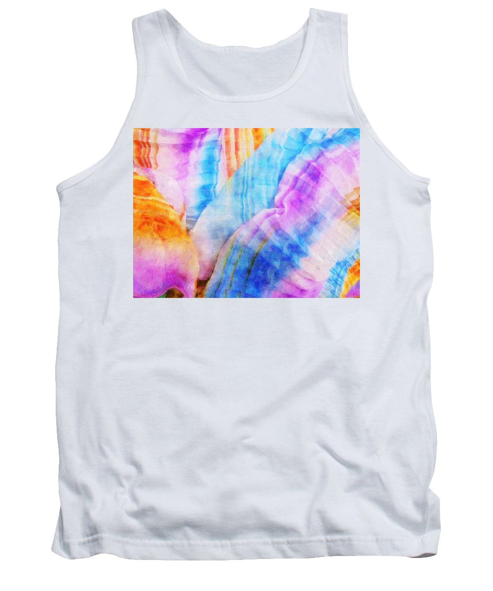 Rainbow Tank Top featuring the painting Woven Dream by Sandy MacGowan