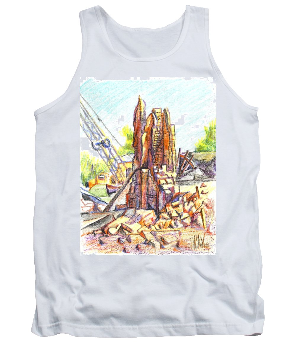 Wrecking Ball Tank Top featuring the painting Wrecking Ball by Kip DeVore