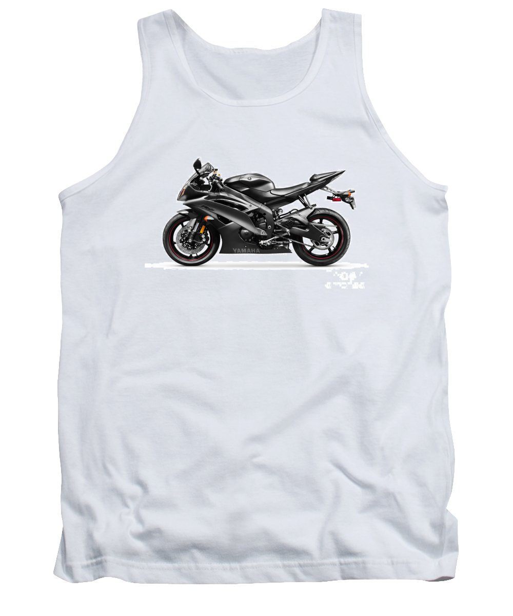 Motorcycle Tank Top featuring the photograph Yamaha R6 Supersport Motorcycle by Oleksiy Maksymenko