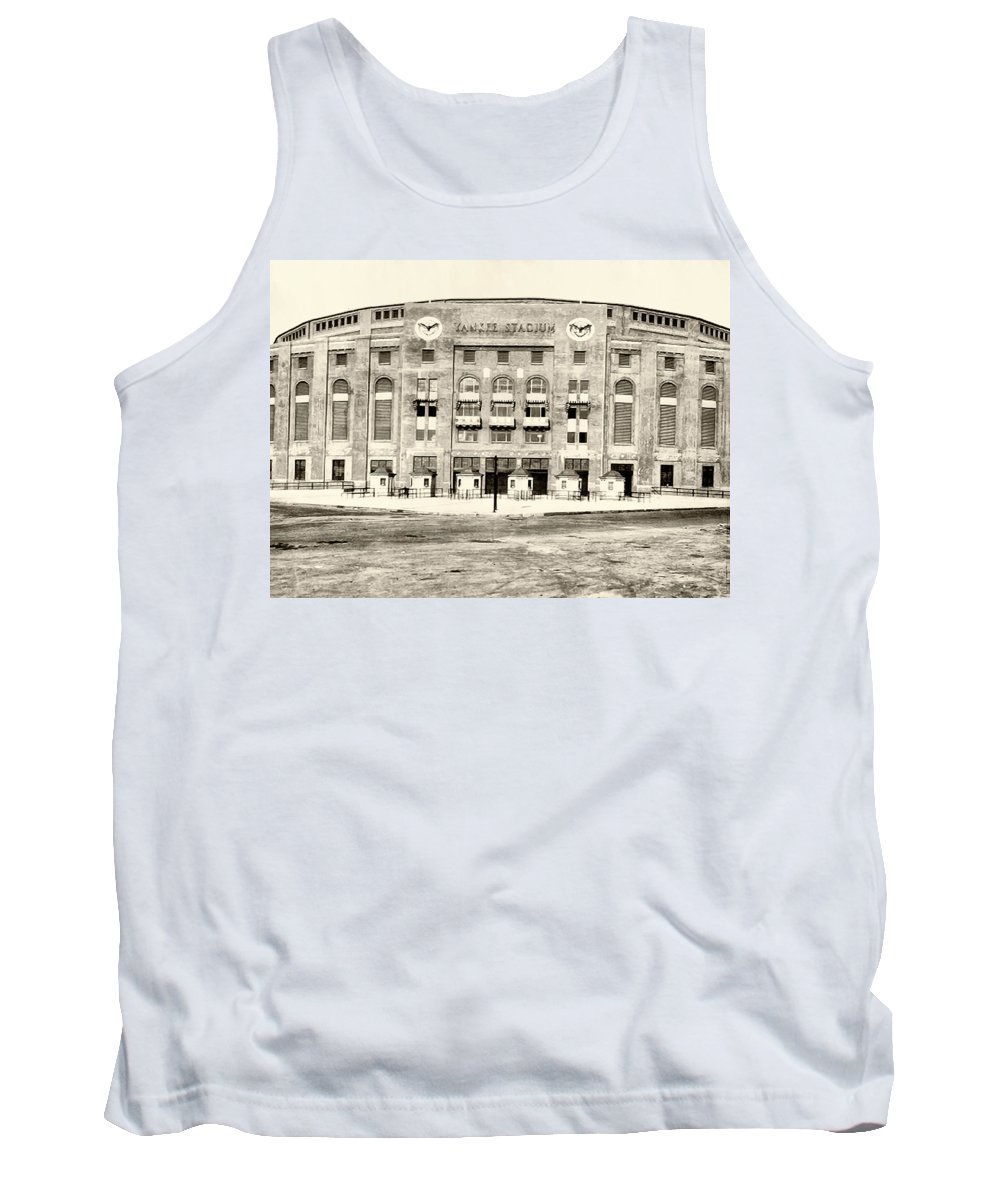 Yankee Stadium Tank Top featuring the photograph Yankee Stadium by Bill Cannon