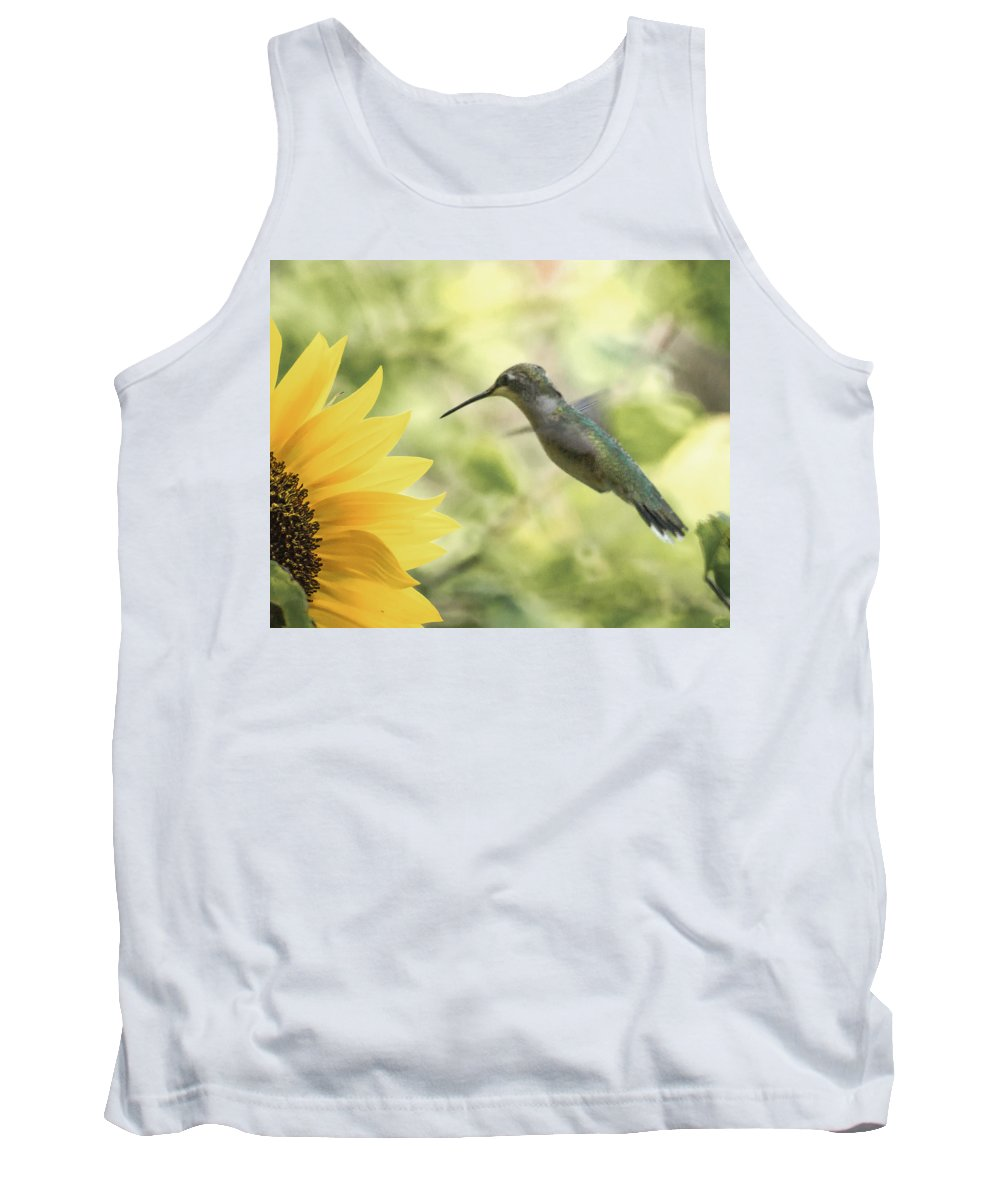 Hummer Tank Top featuring the photograph Yellow Attraction by Cheryl Beck