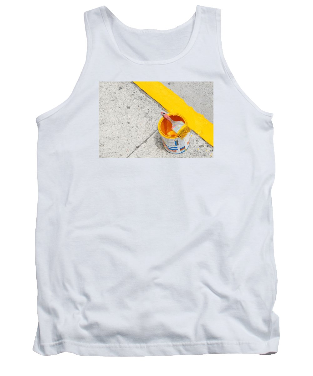 Yellow Tank Top featuring the photograph Yellow by David Coleman