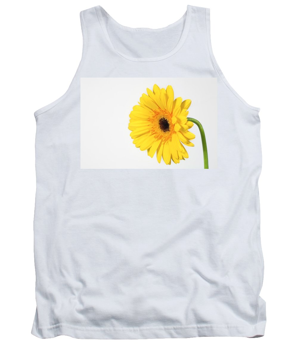 Companionship Tank Top featuring the photograph Yellow Gerbera by Leah Hammond