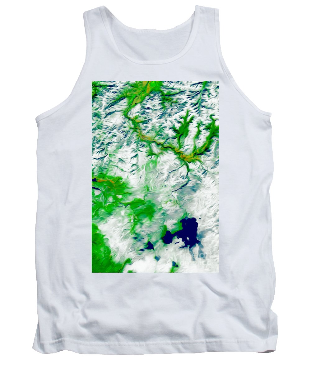 Yellowstone Tank Top featuring the digital art Yellowstone National Park by Phill Petrovic