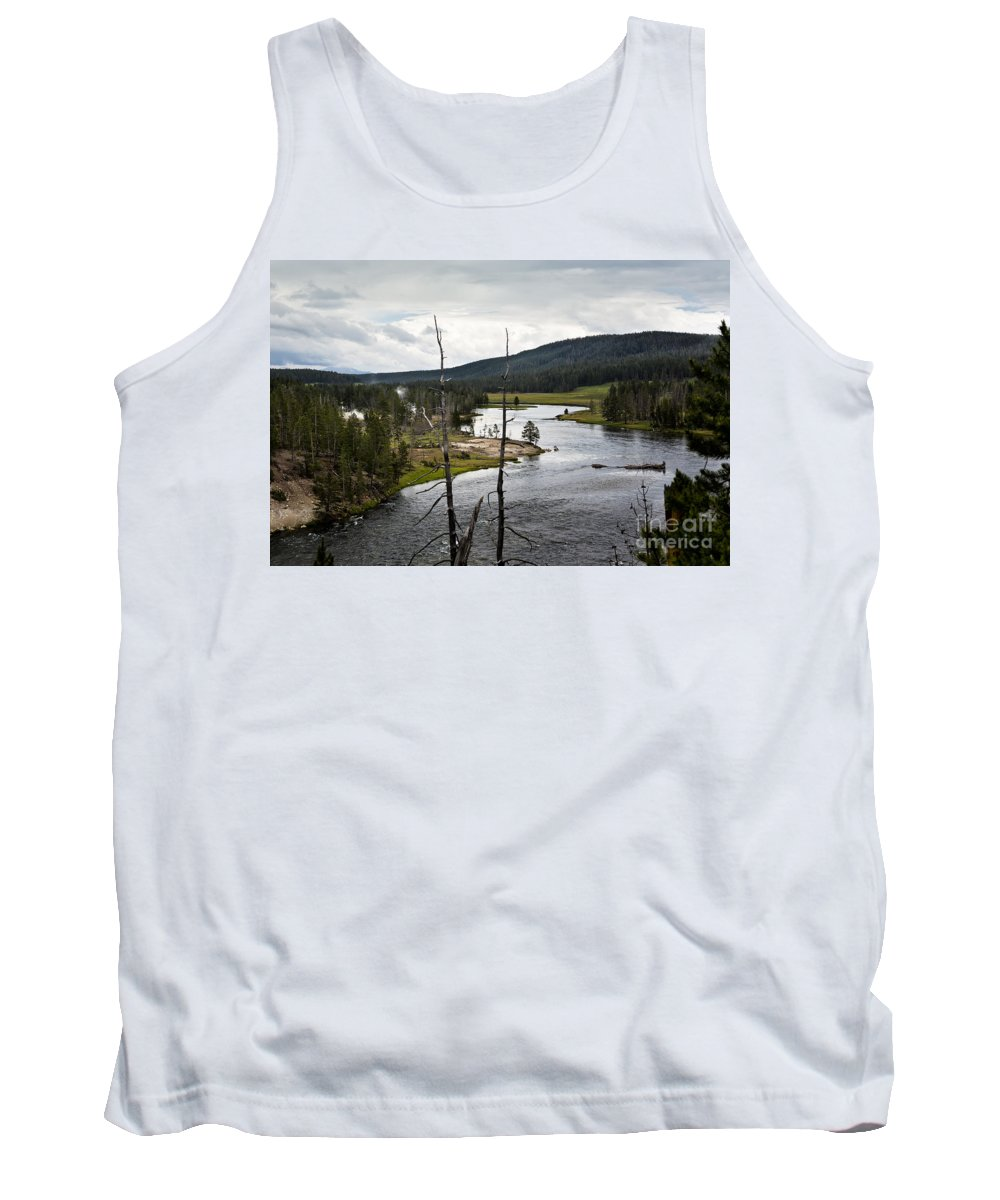 Yellowstone River Tank Top featuring the photograph Yellowstone River by Belinda Greb