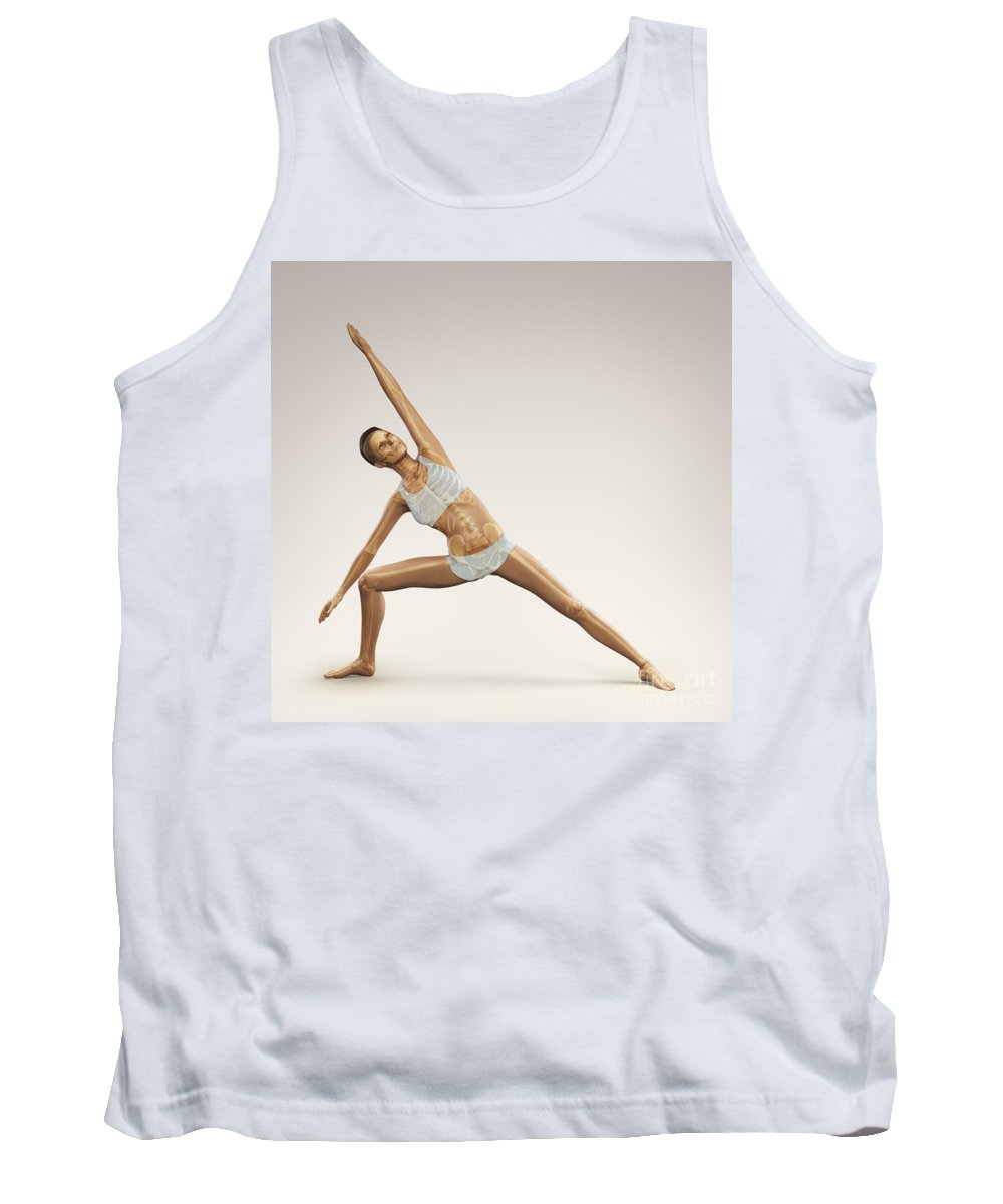 Digitally Generated Image Tank Top featuring the photograph Yoga Side Angle Pose by Science Picture Co