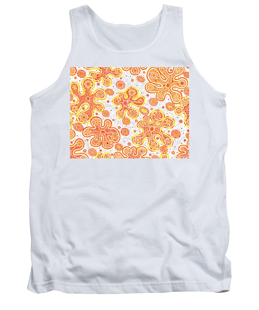 Migliore Tank Top featuring the drawing Yorbis by Dave Migliore