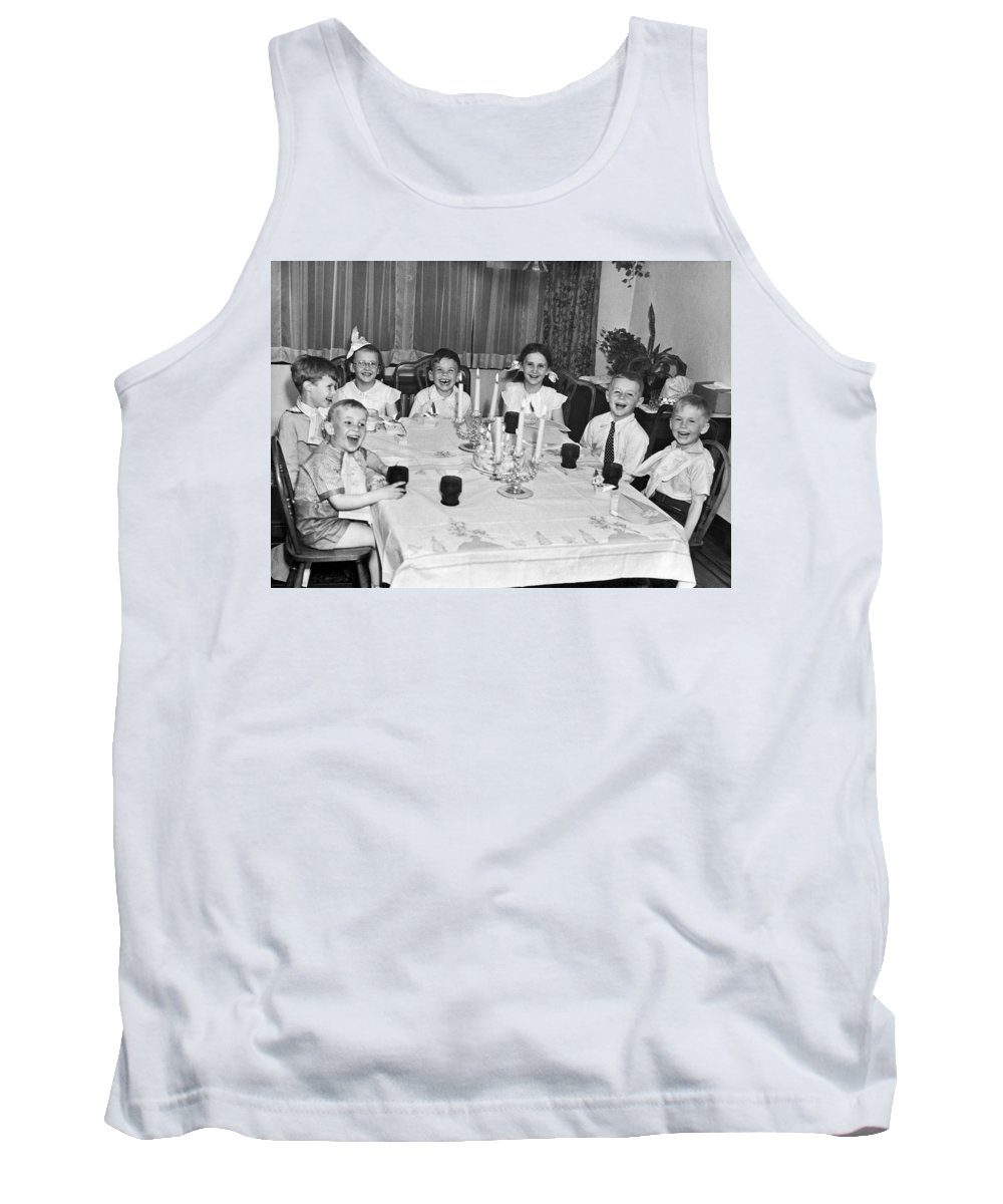 1940 Tank Top featuring the photograph Young Children Laughing by Underwood Archives