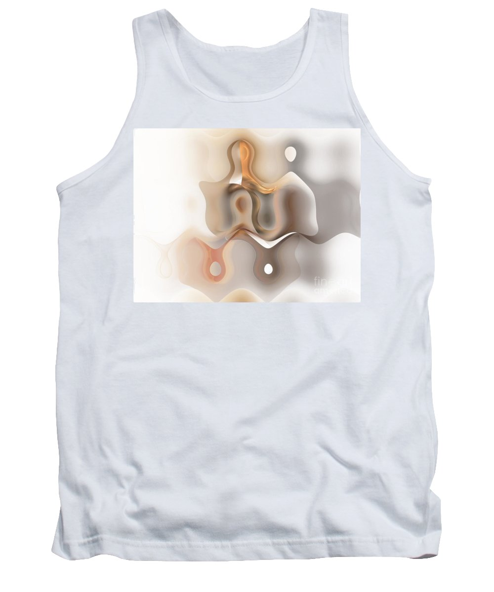 Painting Tank Top featuring the digital art Young Couple - Marucii by Marek Lutek