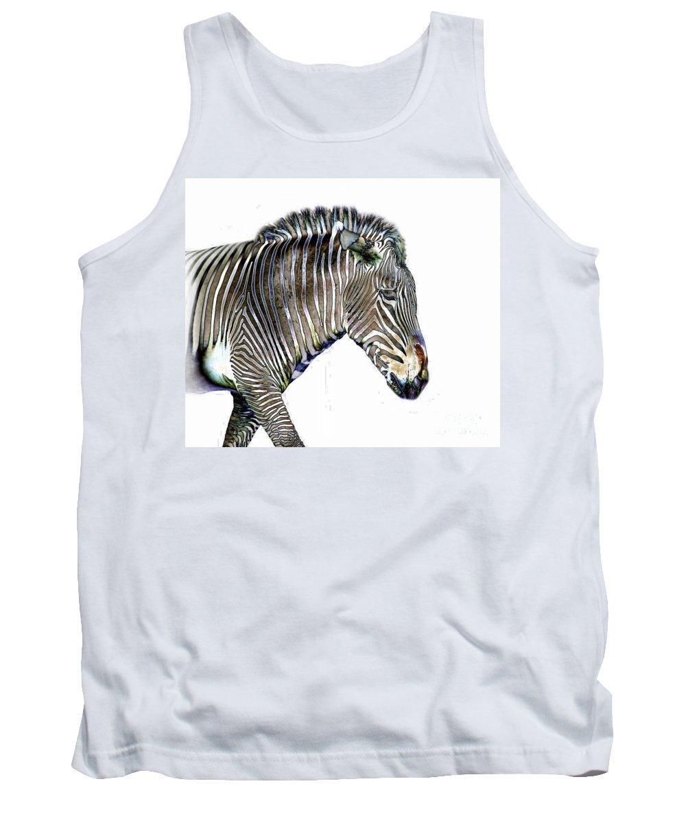 Zebra Tank Top featuring the photograph Zephyrus Zebra IIi by Sheila Laurens