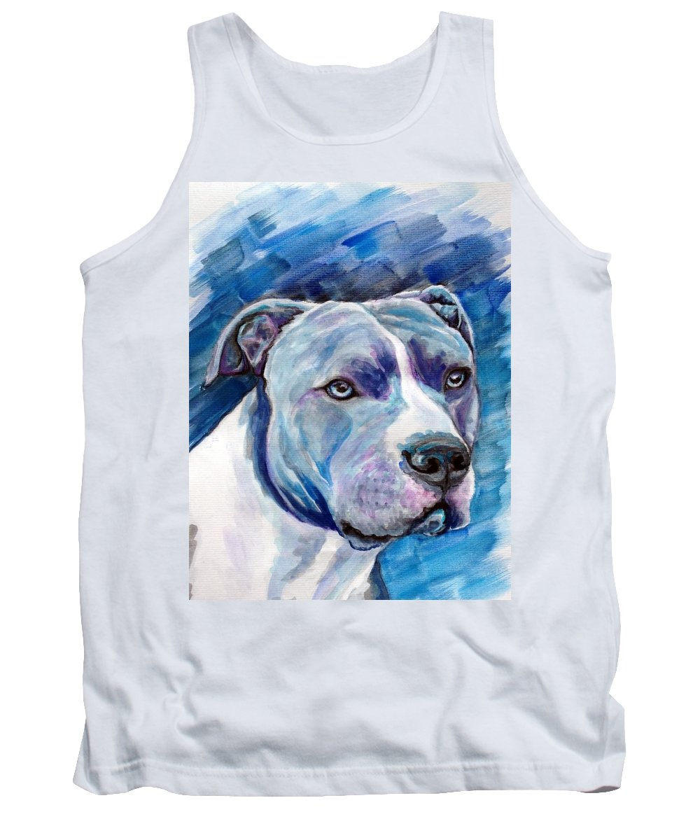 Dog Tank Top featuring the painting Ziggy by Ashley Kujan